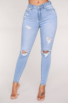 870a390487 In The Clouds Skinny Jeans - Light Blue Wash