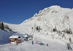 Nassfeld or Naßfeld (Slovene: Mokrine) is an ski-resort in the Austrian state of Carinthia (state), district Hermagor. Carinthia, Weekend Deals, White Stuff, Winter Pictures, Night Club, Places Ive Been, Mount Everest, Skiing, Travel Destinations