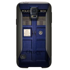 Custom OtterBox Commuter Case for Samsung Galaxy S5 - Name Any Color Personalized Monogram - Blue London Style Police Call Box TARDIS