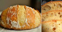 Domácí křupavý chlebík: Hotový raz-dva, voní po celém domě a chutná úžasně! How To Make Bread, Food To Make, Bread Recipes, Cooking Recipes, Bread And Pastries, Russian Recipes, Bread Baking, Tray Bakes, Bakery