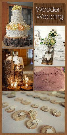 wooden wedding :) who would have thought this could be so cute!