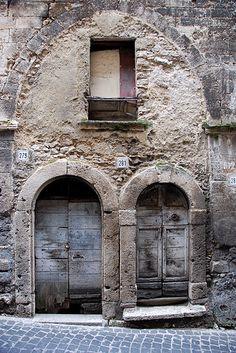 Ferentino, two ports in an arch, Frosinone, Lazio