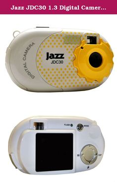 Jazz JDC30 1.3 Digital Camera with Interchangeable Faceplates (Yellow). This 1.3MP digital camera has 3 interchangeable faceplates (this one comes only with yellow). Use this camera for a digital still, PC camera or to take video clips. Features a 1.4-Inch TFT LCD display.