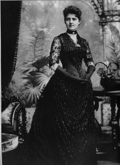 Frances Folsom Cleveland, wife of U.S. President Grover Cleveland.