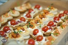 A vibrant selection of canapes