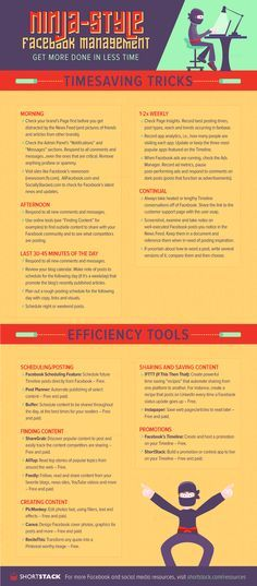 Time Saving Tricks And Tools For #Facebook Management - #infographic #socialmedia