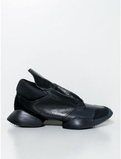 Rick Owens Adidas runway sneakers black