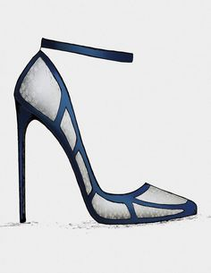 ● The Black & Blue – Collection - High Heels Crazy Shoes, Me Too Shoes, Shoe Boots, Shoes Heels, Shoe Sketches, Black High Heels, Beautiful Shoes, Girls Shoes, Designer Shoes