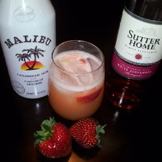 Copycat recipe: Outback steakhouse strawberry peach sangria --- delicious!!!! 7.5 oz. Sudder Home White Zinfandel 2.5 oz. Malibu Pineapple Rum 2.5 oz. Pineapple Juice 1.25 oz. Strawberry Puree 1.5 oz. Peach Puree Pure over ice. Makes one pitcher (same size pitcher as outback) Makes about 4 small servings