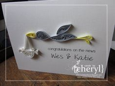 ~ a paper {life}: ~ quilled stork card