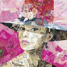 Ines Kouidis est une artiste allemande qui a choisi de recycler toutes sortes de magazines, journaux et dépliants publicitaires en en faisant d'étonnants portraits de stars de la mode, du cinéma ou encore de la chanson.  Plus rien à jeter... Pour elle les pages de chacun de ces magazinesqu'elle