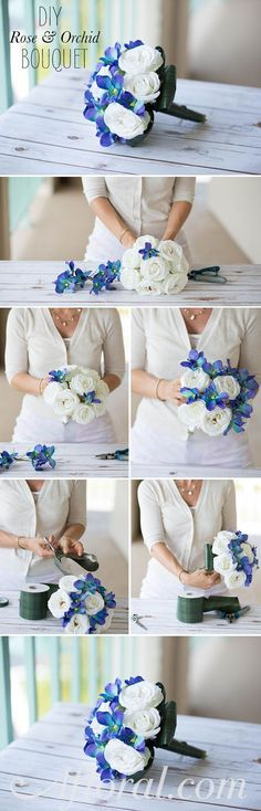 DIY Bridal Bouquet.  Create your own wedding bouquets for less than $40 with premade bouquets and high-quality faux orchids from Afloral.com.  Find everything you need and step by step tutorials for your DIY wedding ideas.