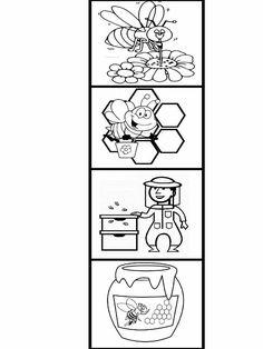 Bee Activities, Creative Activities For Kids, Kindergarten Activities, Bee Crafts For Kids, Bug Crafts, Preschool Crafts, Bee Coloring Pages, Bee Art, Bee Theme