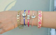 Colourful braclets