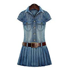 Women's+Plus+Size+Blue+Denim+Dress+–+USD+$+26.99