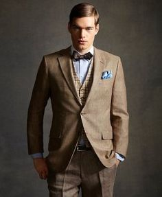 Great Gatsby men's clothing line.....and the model can't be overlooked either.