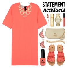 """""""Statement Necklaces"""" by lgb321 ❤ liked on Polyvore featuring Cédric Charlier, Vera Bradley, Michael Kors, Kate Spade, Red Carpet Manicure, H&M, Tory Burch, Cartier, Bare Escentuals and Cara"""