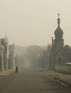Humo en Buenos Aires-Cementerio de la Chacarita