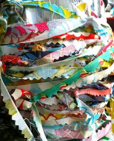 ribbon from fabric scraps #buzzmills