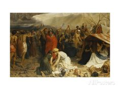 Refugees from Pompeii, AD 79 Giclee Print by Frank William Warwick Topham at AllPosters.com