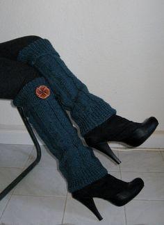 Hand Knit Leg Warmer  Womens Wool Leg Warmer Legwarmer  by zyzon, $34.00