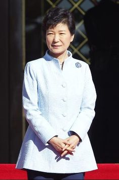 Powerful: President Park Geun-Hye is South Korea's first female head of state.