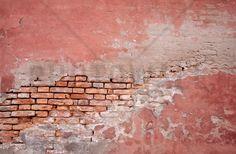 Pink Colored Brick Wall - Decoration Murale & Papier Peint Photo - Photowall