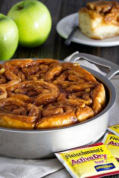Caramel Apple Cinnamon Rolls taste like a sweet caramel apple in a decadent cinnamon roll. A great breakfast treat.