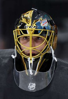 LAS VEGAS, NV - SEPTEMBER 28: Marc-Andre Fleury #29 of the Vegas Golden Knights stands on the ice during a break in a preseason game against the Colorado Avalanche at T-Mobile Arena on September 28, 2017 in Las Vegas, Nevada. Colorado won 4-2. (Photo by Ethan Miller/Getty Images)