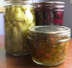 pickling recipes along with all kinds of canning recipes