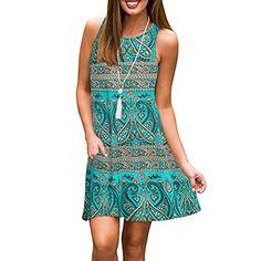 f7f040b34aa4 Abravo Donna Vestito Estate Casual Vestiti da Cerimonia Sciolto Mini  Maglietta T-Shirt Abito Senza