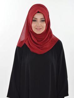Practical Chiffon Shawl, Ready Turban, Hijab, Tesettur, Shawl, PS-0011 Maroon by MelikesDesign on Etsy
