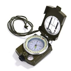 Know where you at all times and never get lost again by using this Lensatic Compass   Specifications: Color: army green Material: metal Product size: approx. 7*5.2*2.5cm Product weight: approx. 175g ...