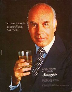 OLD SMUGGLER y Juan Carlos Colombres, Landrú. Década del 80.