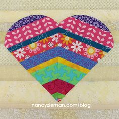 2016 Quilt Extravaganza—August Block of the Month GreatFullHeart-NancyZieman-Block The eighth design in the 2016 Quilt Extravaganza is named Grateful Heart. This block creates great impact, yet can be sewn with ease.  Use the Carefree Curves Template to create the shapes easily and without setting in any curved seams.