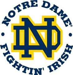 Notre Dame Fighting Irish T Shirt Transfer Iron On.