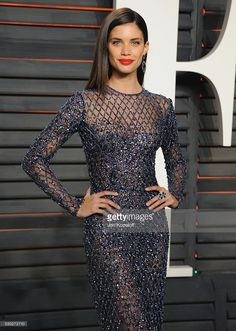 Model Sara Sampaio arrives at the 2016 Vanity Fair Oscar Party Hosted By Graydon Carter at Wallis Annenberg Center for the Performing Arts on February 28, 2016 in Beverly Hills, California.