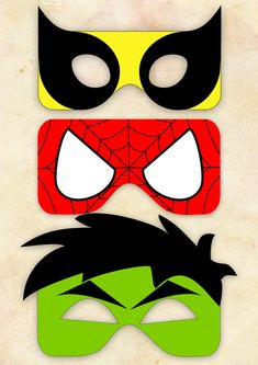 spiderman mask template super cute masks for photo booth or goodie bags. Hulk Birthday, Avengers Birthday, Superhero Birthday Party, Birthday Ideas, Boy Birthday, Birthday Parties, Fête Spider Man, Comic Book Paper, Hulk Party