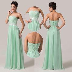 Details zu ❤Neu Lager Chiffon Lange Ballkleider Abendkleider  Brautjungfernkleid GR. 34-44+ a9ff3ab8ba
