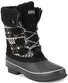 Khombu Maya Cold Weather Faux-Fur Booties - Winter & Rain Boots - Shoes - Macy's