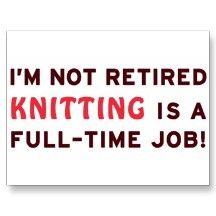 Retired Knitting Gag Gift Post Cards