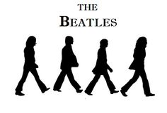 "1 THE BEATLES SILOUETS Cake Topper ~ Edible Image ~ 1/4 Sheet Cake Topper ~ Approx; 7""- 9"""