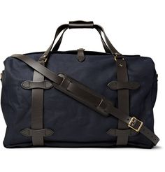 Leather-trimmed Twill Duffle Bag - 30% on Mr.Porter
