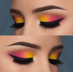 Love or not? Double tip for this eye make-up from - Love or not? Double tip for this eye make-up from The Effective Pictures We Offer You A - Makeup Eye Looks, Pink Eye Makeup, Eye Makeup Steps, Eye Makeup Art, Colorful Eye Makeup, Beautiful Eye Makeup, Smokey Eye Makeup, Makeup Inspo, Eyeshadow Makeup