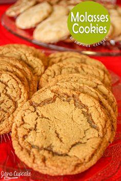 Chewy Molasses Cookies | JavaCupcake.com