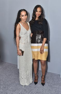 Zoe Kravitz et Zoe Saldana à la soirée Elle's Women in Hollywood