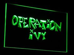 Operation Ivy LED Neon Sign