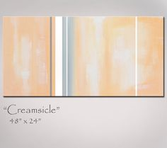 Abstract Painting Peach and Grey Abstract Art by RedMoonStudioArt