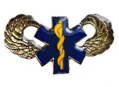 Star of Life Wings Air Transport Rescue Paramedic Flight EMT hat or lapel pin D27 Sujak Military Items. $5.95. 1 1/4 inch width. Quality craftsmanship. Rubber clasp for secure wear