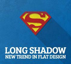 Long Shadow Flat Design .. Les ombres continues seraient une nouvelle tendance dans le flat design...bref à voir !